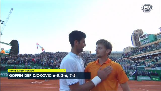 Djokovic falls to Goffin