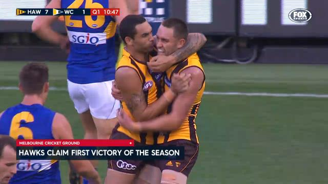 Hawks win first game for 2017