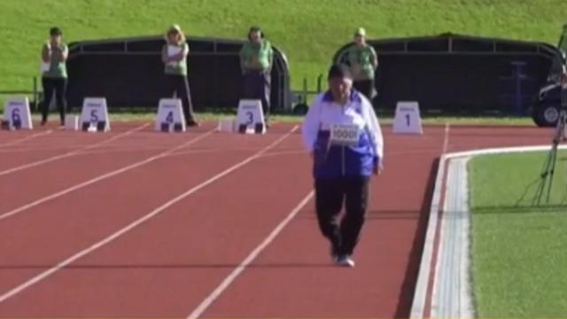101-year-old nails 100m dash