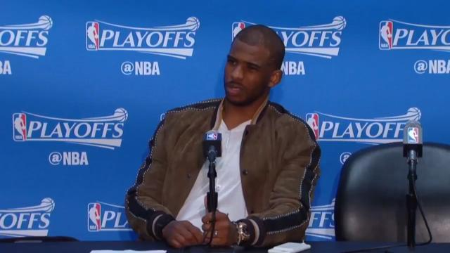 Chris Paul takes on reporter