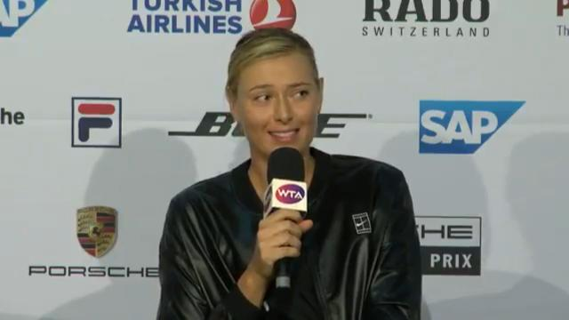 Sharapova's crack at reporter
