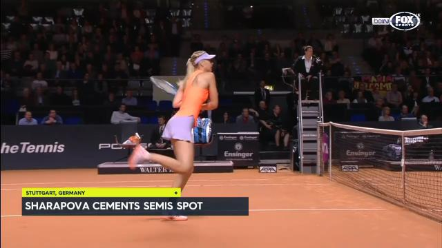 Sharapova moves into semis