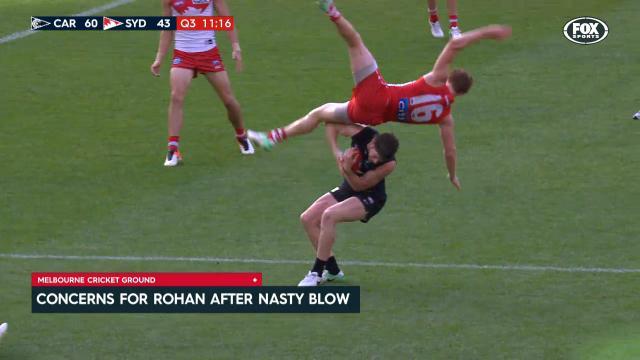 Rohan falls heavy