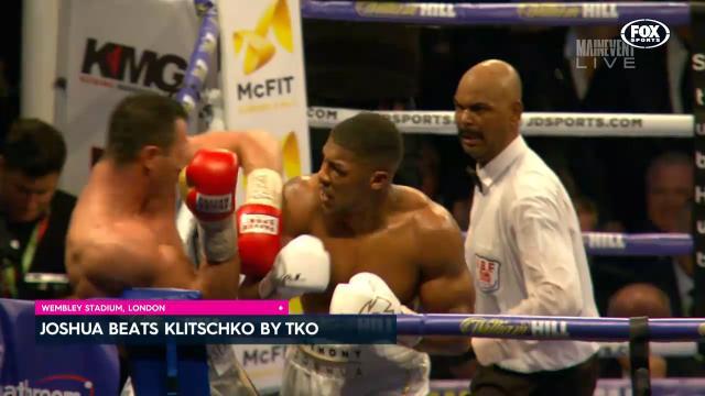 Joshua defeats Klitschko