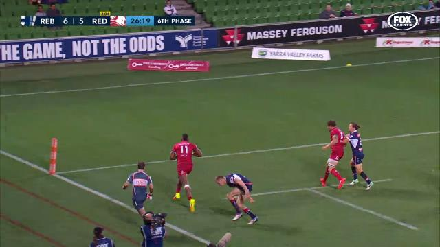 Beautiful team try for Reds