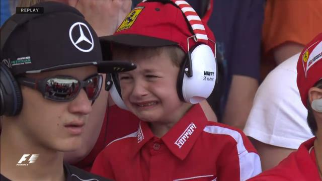 Kimi turns kid's tears to joy
