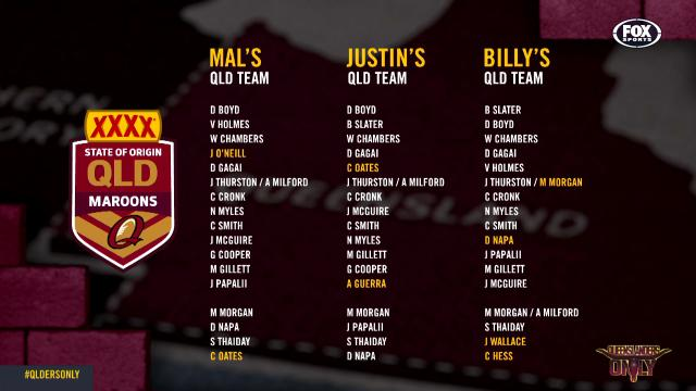Legends name their QLD teams