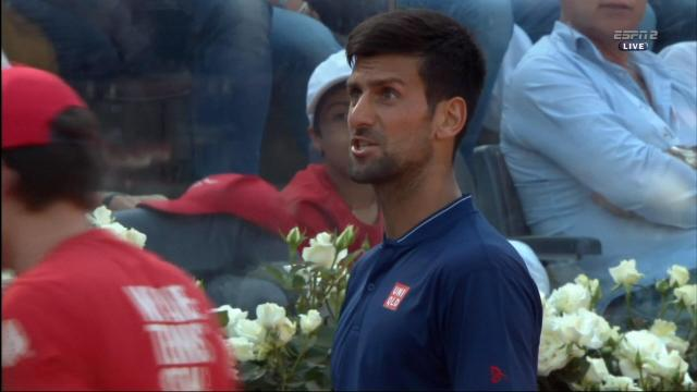 No joke: Novak fires up