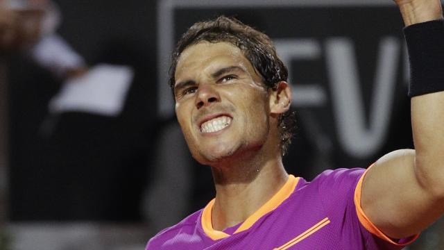 King of clay marches on
