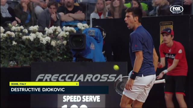 Djokovic destroys opponent