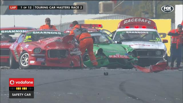 Touring cars' monster crash