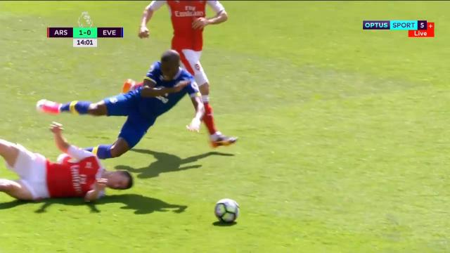 Filthy tackle sees red