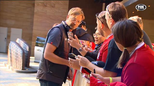 Fans meet Liverpool heroes