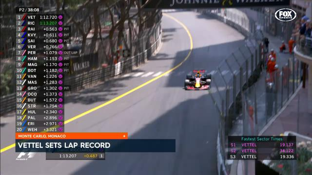 Vettel sets lap record