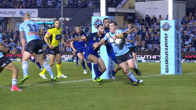 Gal sparks Sharks' clutch try