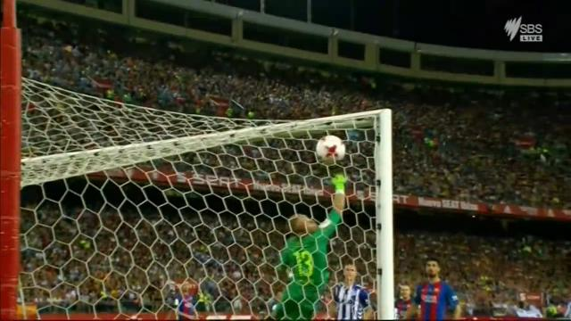 Barca struck by free kick gem