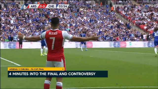 Controversial Sanchez goal