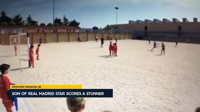 CR7 Jr scores another stunner