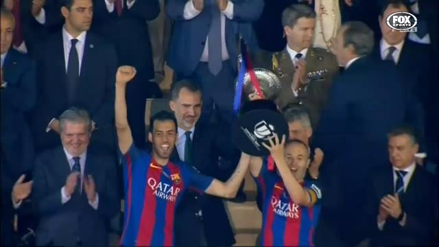 Barcelona get Copa hat-trick