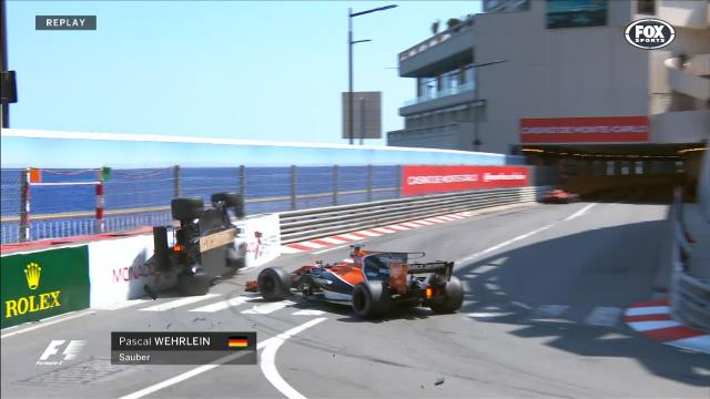 Wehrlein flips out in Monaco