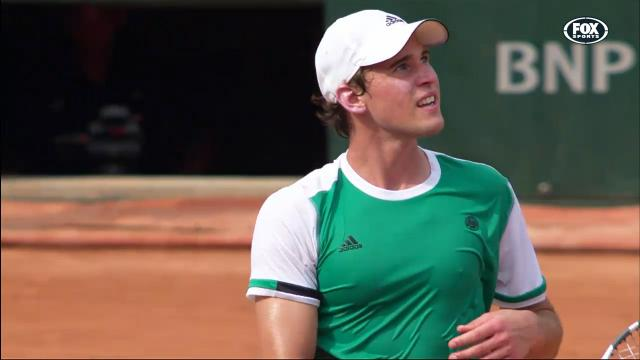 Tomic cleaned up by Thiem
