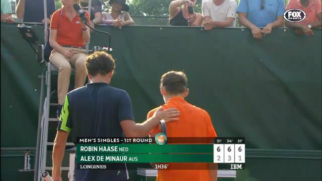 Young aussie falls to Haase