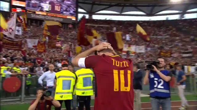 Roma wins in Totti farewell