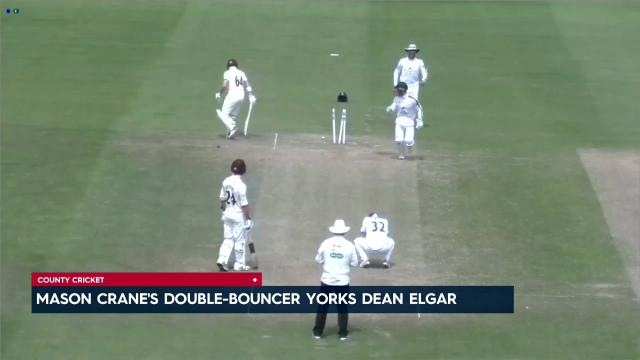 Double-bouncer yorks Elgar