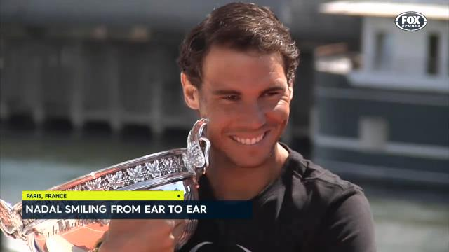 Nadal shows off silverware
