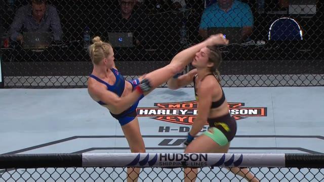 Holm's vicious head-kick KO