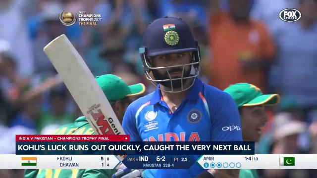 Out! Kohli caught in 2nd over