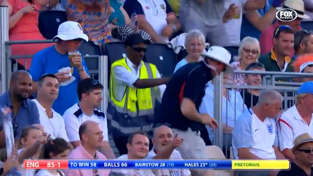 Dancing England fan goes wild