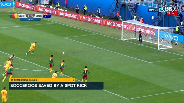 Socceroos saved by penalty