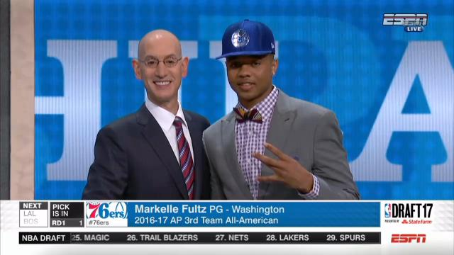 Fultz goes #1, Ball goes #2
