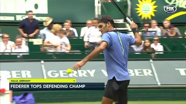 Federer yet to drop a set