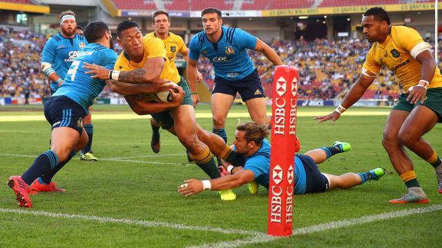 Wallabies shaky against Italy