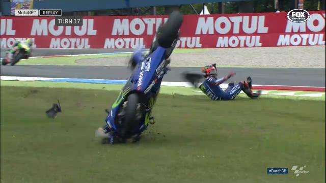 Vinales crashes out in Assen