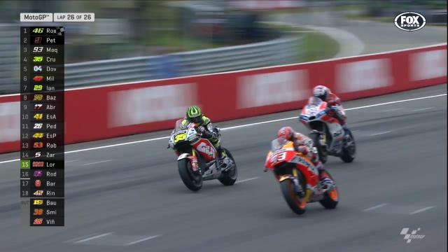 Marquez swoops in for third