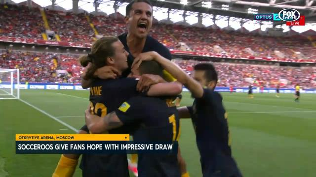 Socceroos impress in draw