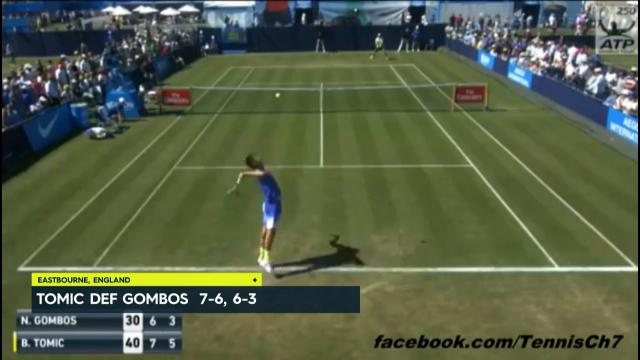 Tomic crushes Gombos 7-6, 6-3