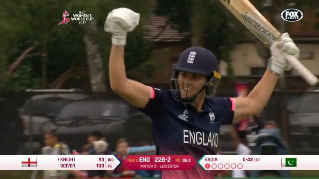 Sciver goes bang, bang, BANG