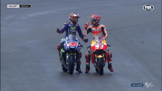 Rivals argue over close call