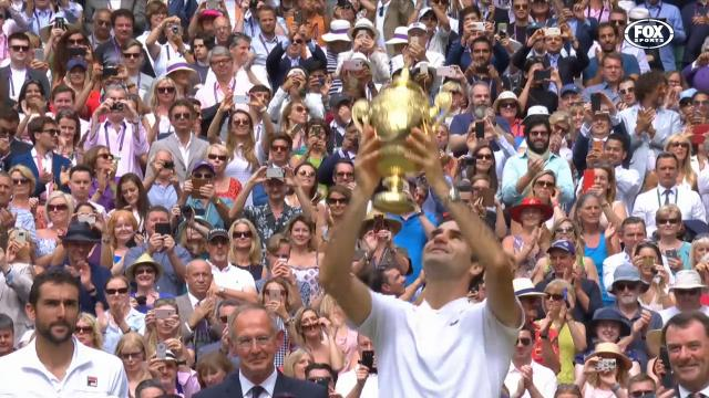 Federer claims 8th Wimbledon