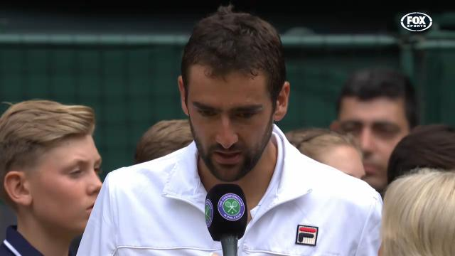 Cilic fights back tears