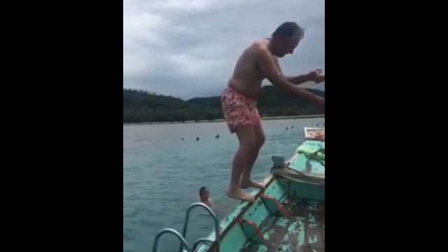 Player backflipping at 81
