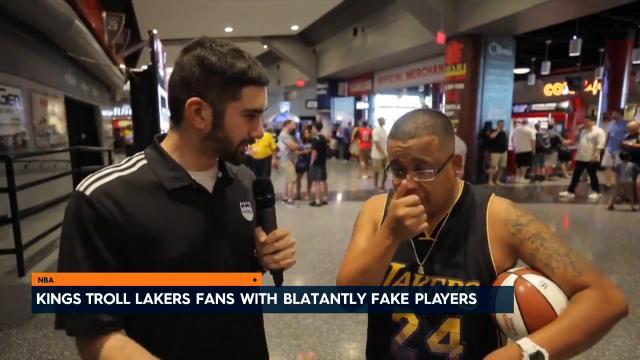 Kings troll Lakers fans