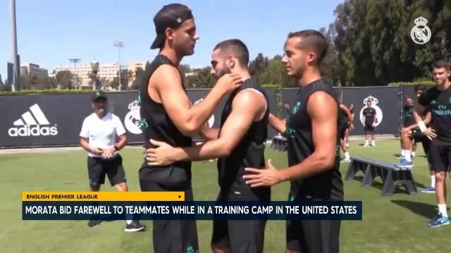 Morata farewells teammates