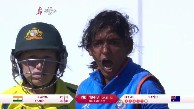 Kaur's fuming ton celebration