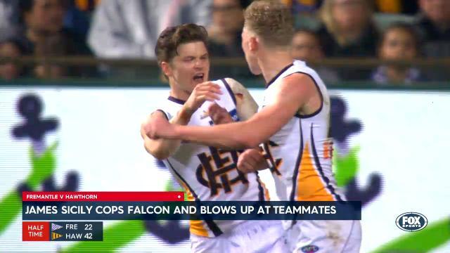 Sicily sprays Hawks teammate