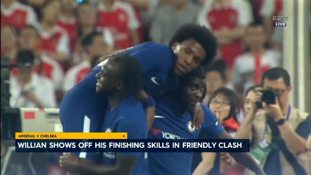 Willian fires pinpoint finish